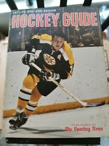 1971-72 TSN PRO AND SENIOR HOCKEY GUIDE WITH PHIL ESPOSITO 576 PAGES GROBEE1957