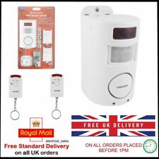 REMOTE CONTROL PIR WIRELESS MOTION SENSOR ALARM IDEAL FOR SHED HOME GARAGE