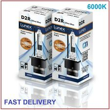 2 x D2R Genuine LUNEX XENON 6000K HID BULB compatible with 85126 66050 66250