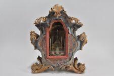 i16b05- Barocke Klosterarbeit Holz, Altar hinter Glas, 18.Jh