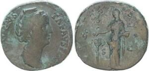 Sesterz 141 Antike / Römische Kaiserzeit / Faustina I   (49565)