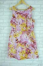 JIGSAW Dress Sz 14 Pink, yellow, purple print