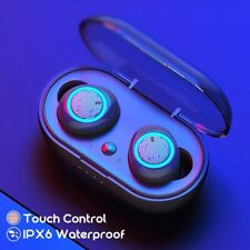 Bluetooth Bass Earbuds for iPhone Samsung Android Wireless Earphone Waterproof