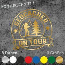 GEOCACHER ON TOUR Aufkleber Geocaching Sticker (3 Größen / 8 Farben)