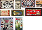o scale barber shop decals