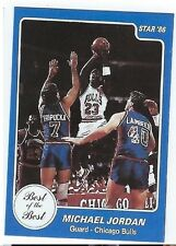 "1986 STAR ""Best of the Best"" card of MICHAEL JORDAN #9"