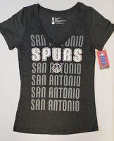 San Antonio Spurs Women's Short Sleeve Mesh Burnout T-Shirt | SZ Large | NWT