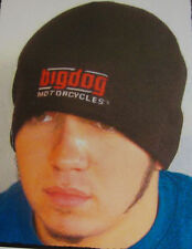 BIG DOG MOTORCYCLES KNIT BEANIE EMBROIDERED SIGNATURE LOGO HAT K-9 CHOPPER MUTT