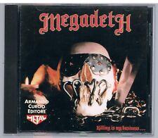 MEGADETH KILLING IS MY BUSINESS...  CD ARMANDO CURCIO ED.