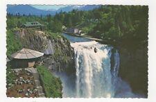 Snoqualmie Falls Lodge & Vista Point Washington USA Postcard 435a