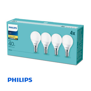 4 Pack - Philips CorePro LED Frosted Golf Ball 5.5W (40W) E14 SES Small Edison S