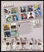 #3184 32c Celebrate the Century: 1920s, Souvenir Sheet, Mint