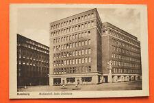 AK Hamburg 1920er Mohlenhof + Chilehaus moderne Architektur Kunstgeschichte Str.