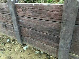 Timbercrete fencing section Weathered Brown including delivery (some exception