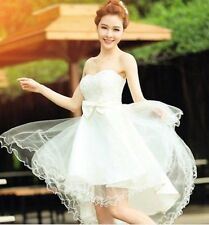 US Women Lace Short Tutu Dress Evening Party Cocktail Bridesmaid Wedding Gown S
