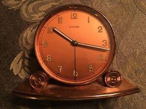 CYMA WATCH CO SWISS ALARM CLOCK - RARE VINTAGE 1950