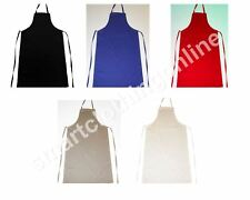 Back To School Technology Apron Plain White and Cream With Pockets