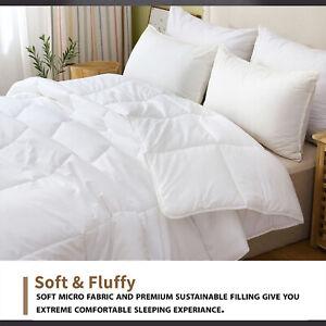 Hotel Quality Anti Allergy Duvet 4.5, 10.5, 13.5 Tog Quilt Feels Like Down Duvet