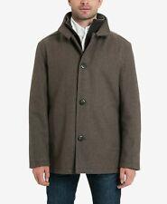 London Fog Mens wool blend layered car coat Size Extra-Large XL colour mocha
