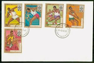 Mayfairstamps Burundi 1968 Olympics Mexico Combo First Day Cover wwk20423