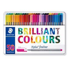 Staedtler Triplus Fineliner Pens - Metal Gift Tin of 50 Brilliant Colours 0.3mm