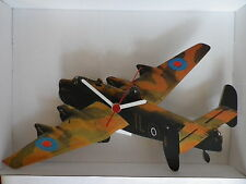RAF HALIFAX BOMBER WORLD WAR II AEROPLANE DESIGN WALL CLOCK. NEW AND BOXED.PLANE