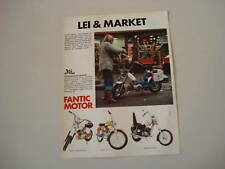 advertising Pubblicità 1974 FANTIC LEI/TI/CHOPPER/ROCKE