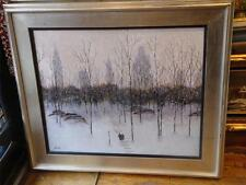 BEST OFFER!MAGNFICENT RARE ORG WINTER CENTRAL PARK NY PAINTING PATRICK ANTONELLE