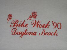VTG 90s Bike Week '90 Daytona Beach Ladies T-shirt Biker HD UNWORN not 70s 90s