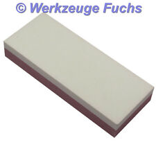 Abziehstein 125x50mm corindón grob u. finamente abziehplatte para stecheisen formón