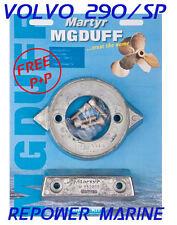 Anode Kit for Volvo Penta 290 SP, Aluminium, High Quality MG Duff