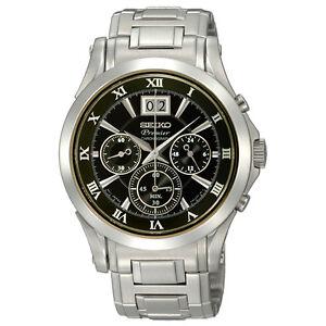 Seiko Premier SPC057 SPC057P1 Mens Chronograph Watch WR100m RRP $995.00