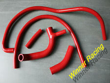 FOR AUSTIN/ROVER MINI 850/1000/1100 -1990 SILICONE RADIATOR &HEATER HOSE KIT Red