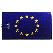European Flag Embroidered Luggage Tag (NEVER BREAKS!)
