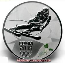 RUSSIA 3 R.- 3 SILVER COINS- SOCHI 2014:ALPINE SKIING- BIATHLON- NORDIC COMBINED