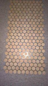Kork Mosaik, Sonderposten, Wandbelag 29 x 58 cm, Stärke 3mm, Durchmesser 24mm