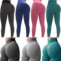 Women Push Up Anti-Cellulite Yoga Pants Ruched Compression Gym Tik Tok Leggings