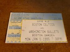 1995 Boston Celtics v Washington Bullets Basketball Ticket Dominique Wilkins 34