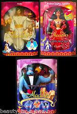 Disney Classics Aladdin Doll Arabian Lights Jewels Jasmine Fashion Genie Lot 3 B