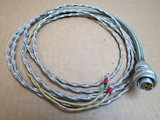 Aircraft Free Air Temp Instrument Probe Wire Harness With 2 Pin Cannon Plug NOS