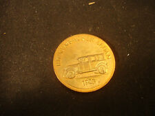 "1923 Rickenbacker Sedan Franklin Mint Antique Car Bronze Coin 1"" x 1"""