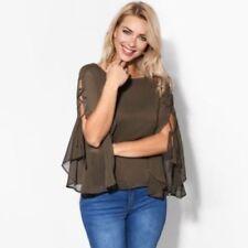 Maglie e camicie da donna maniche a 3/4 camicette verde