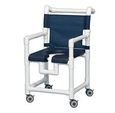 DELUXE SHOWER  CHAIR  w/OPEN FRONT SOFT SEAT SC720 N-Navy