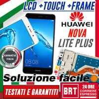 DISPLAY LCD+TOUCH SCREEN+FRAME ORIGINALE x Huawei Y7 2017 TRT-LX1 NOVA LITE PLUS