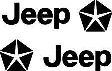 2 x Jeep Aufkleber Wrangler Grand Cherokee Patriot Emblem Logo 200 x 57mm
