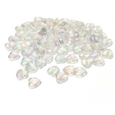Clear Acrylic Beads Heart 8.5x9mm AB Pack Of 100+