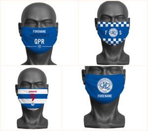 Personalised Queens Park Rangers FC Face Covering / Mask Official Adult QPR