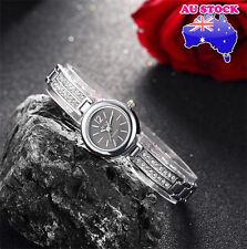 Ladies Watch Sliver Black Dial With  Swarovski Diamond Watch  Alloy Strap