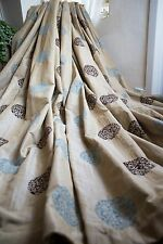 GOLD PAIR CURTAINS,108WX72D,BROCADE,BLANKET,BROWN,DUCK EGG,MTM,EXTRA WIDE,PATIO