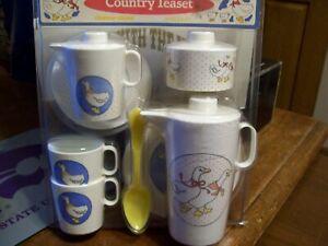 NIB Chilton-Globe Child Play  Goose Country Tea Set